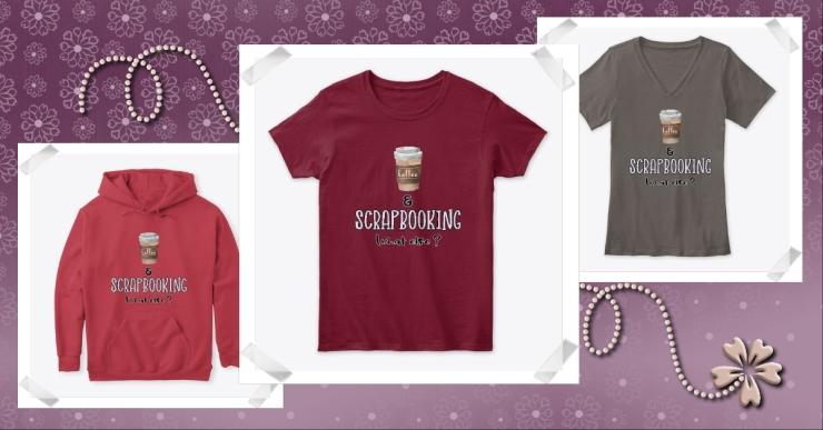 T-shirt Café et Scrapbooking