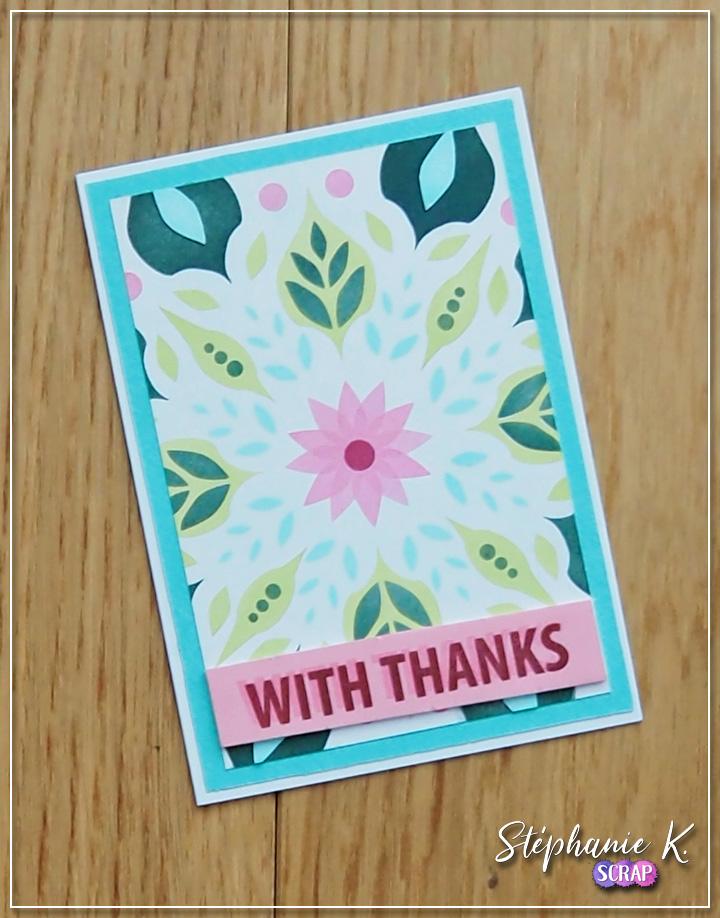 Carte - Remerciement 1