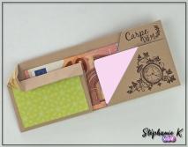 Porte-monnaie - Origami - Vue de face - Ouvert