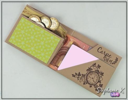 Porte-monnaie - Origami - Vue de face 2 - Ouvert