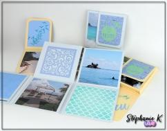 Mini-albums - Thème Azza Au bord de mer - Ensemble 2