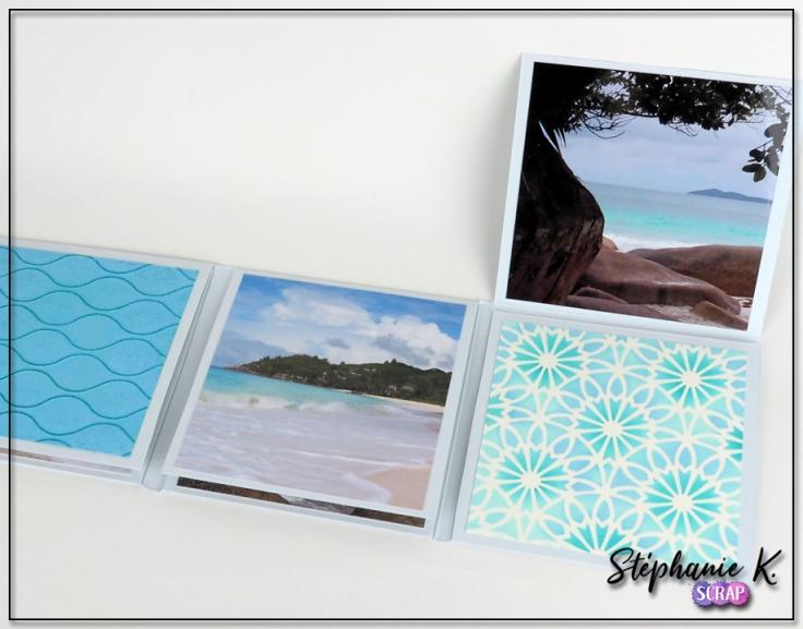 Mini-albums - Thème Azza Au bord de mer - Détail 2