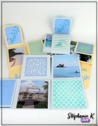 Mini-albums - Thème Azza Au bord de mer - Ensemble 1
